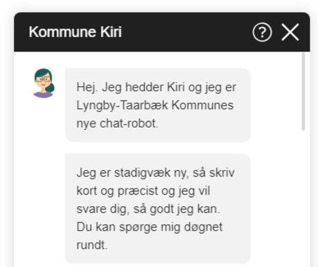Chat med Lyngby-Taarbæk Kommunes nye robot