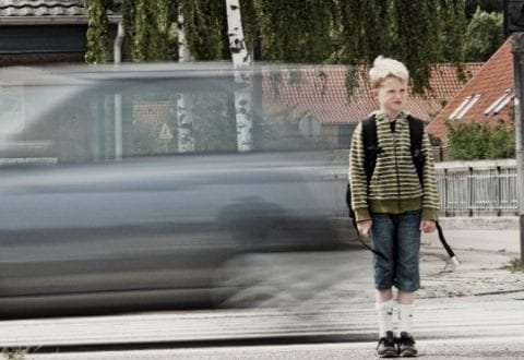 Børn i trafikken skal ikke være bange, foto: RfST