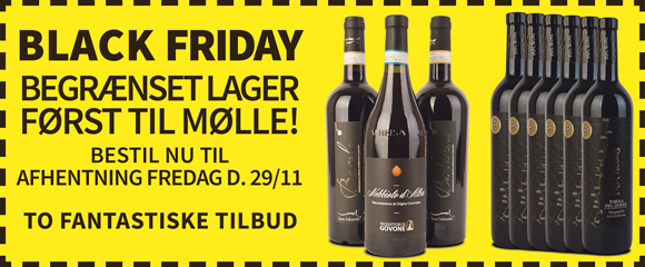 BLACK FRIDAY i Holte Vinlager