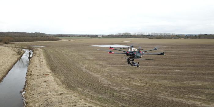Droner forbedrer overvågning af vandløb