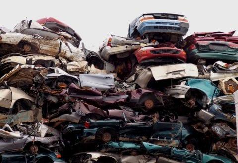 Dieselbiler skrottes, foto. Miljøstyrelsen