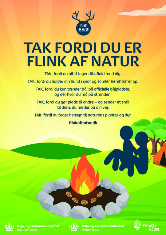 Ny kampagne sætter fokus på god opførsel i naturen