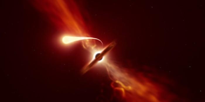 Stjerne ædes af enormt sort hul og 'spaghettificeres' undervejs